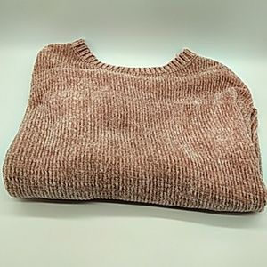 Love tree pink crop sweater womens Small